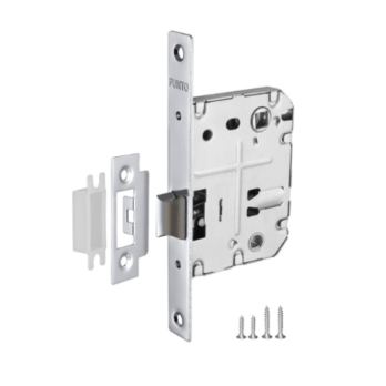 Mortise latch Punto silver